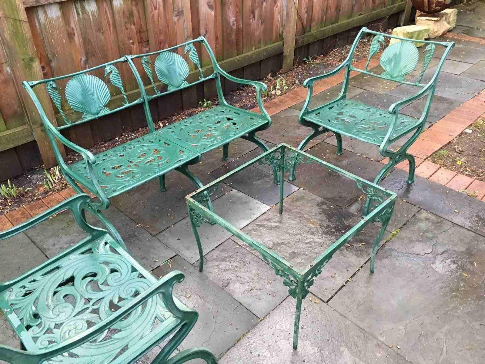Cast Iron Garden Decor In 2020 Vintage Patio Furniture Vintage