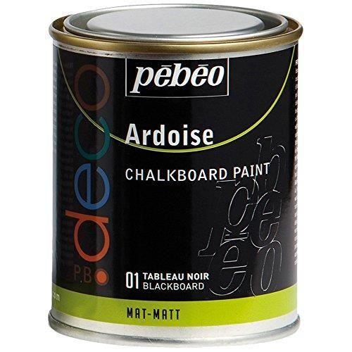 Pebeo Déco Peinture Ardoise Noir 250 Ml | Ardoise, Tableau Noir Et