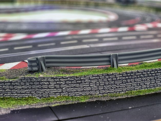 For our slot car track we needed a crash barrier, so we