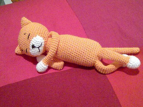 Amineko Crocheted Cat by Nekoyama  by salves3, free pattern