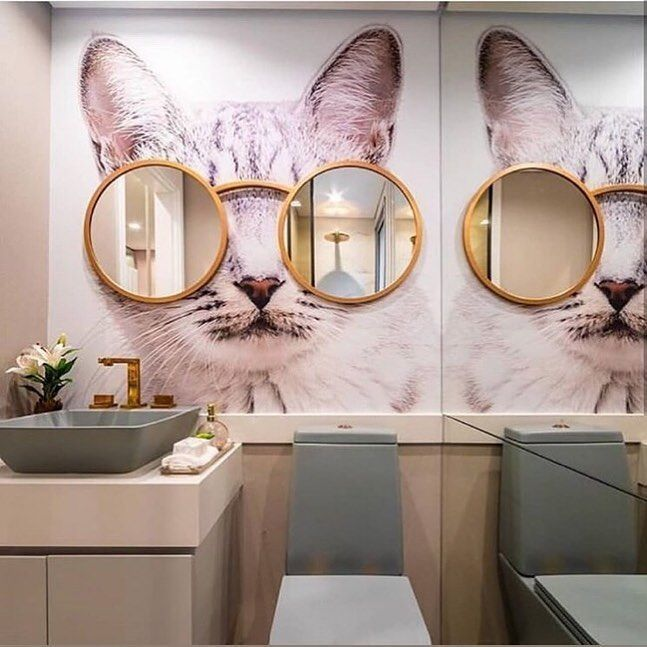 Cute cat interior for this spa-like brick and mortar
