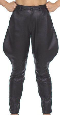 Men's Black Leather Jodhpurs Motorcycle Riding Pants ...