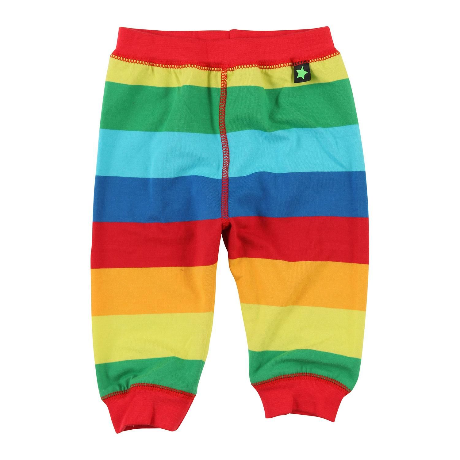Molo rainbow stripe baggy pants