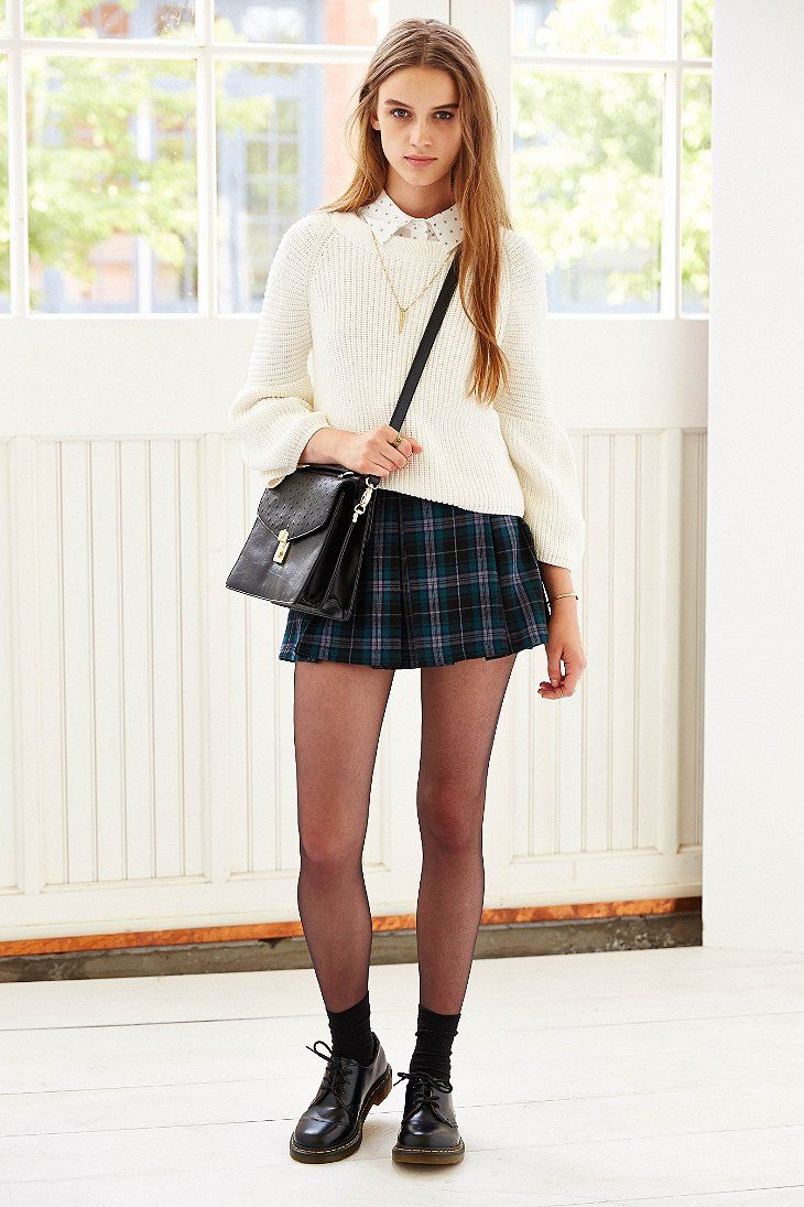 13b3ab8439 Ecote Plaid Inverted Pleat Mini Skirt - Urban Outfitters | My Style ...