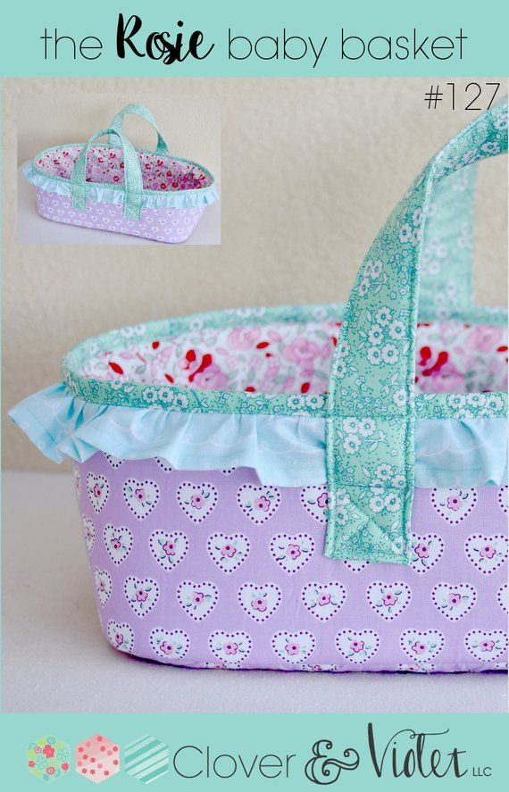 the Rosie baby basket - PDF Sewing Pattern