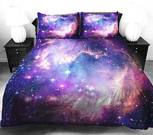 Anlye Galaxy Quilt Cover Galaxy Duvet Cover Galaxy Sheets ...