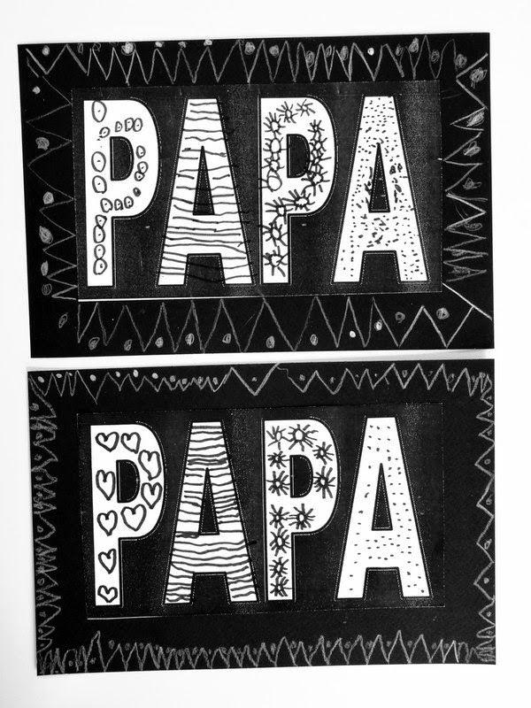 Le journal de chrys f te des p res votre avis - Carte fete des peres maternelle ...