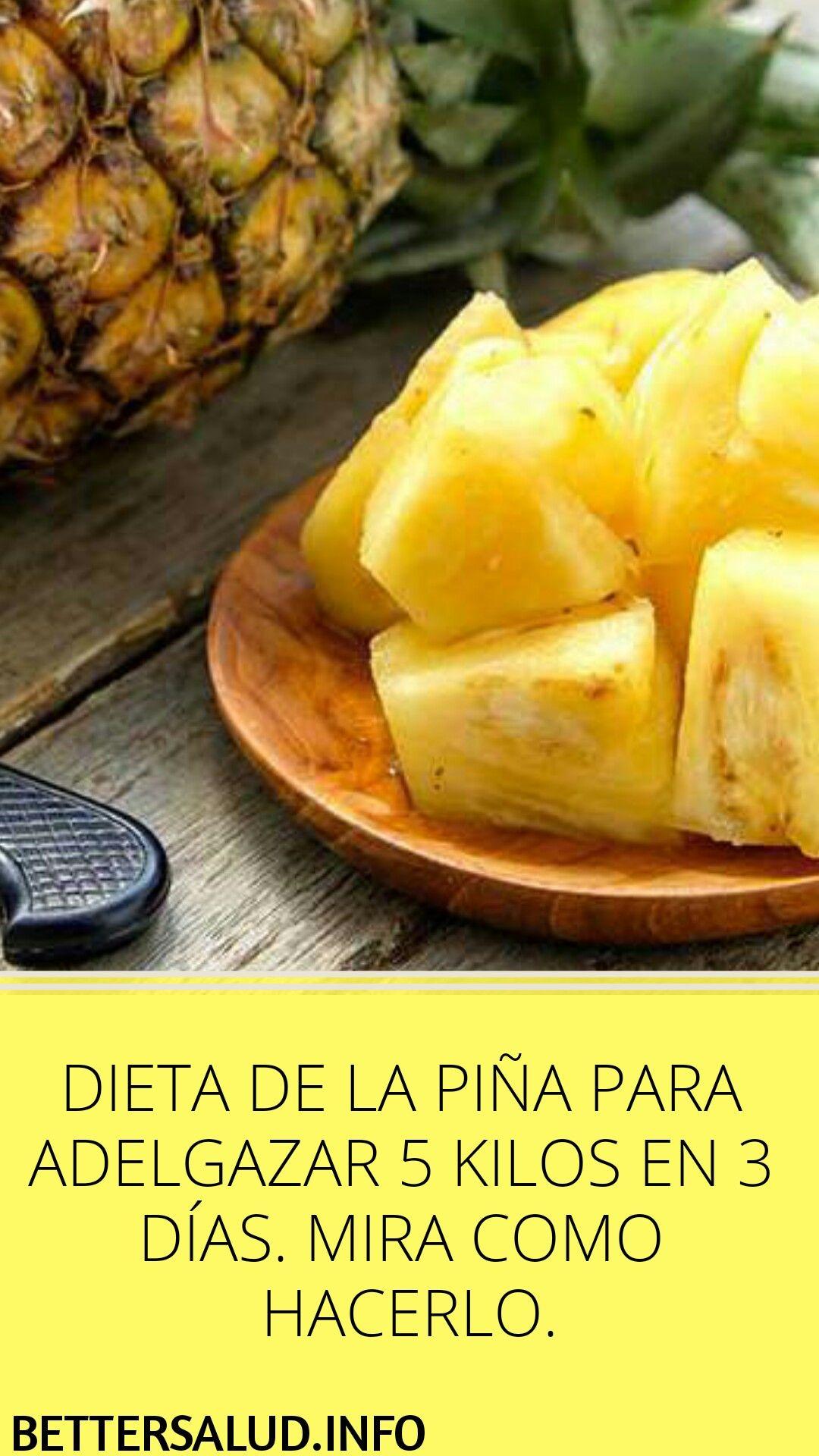 Dieta 3 dias pina