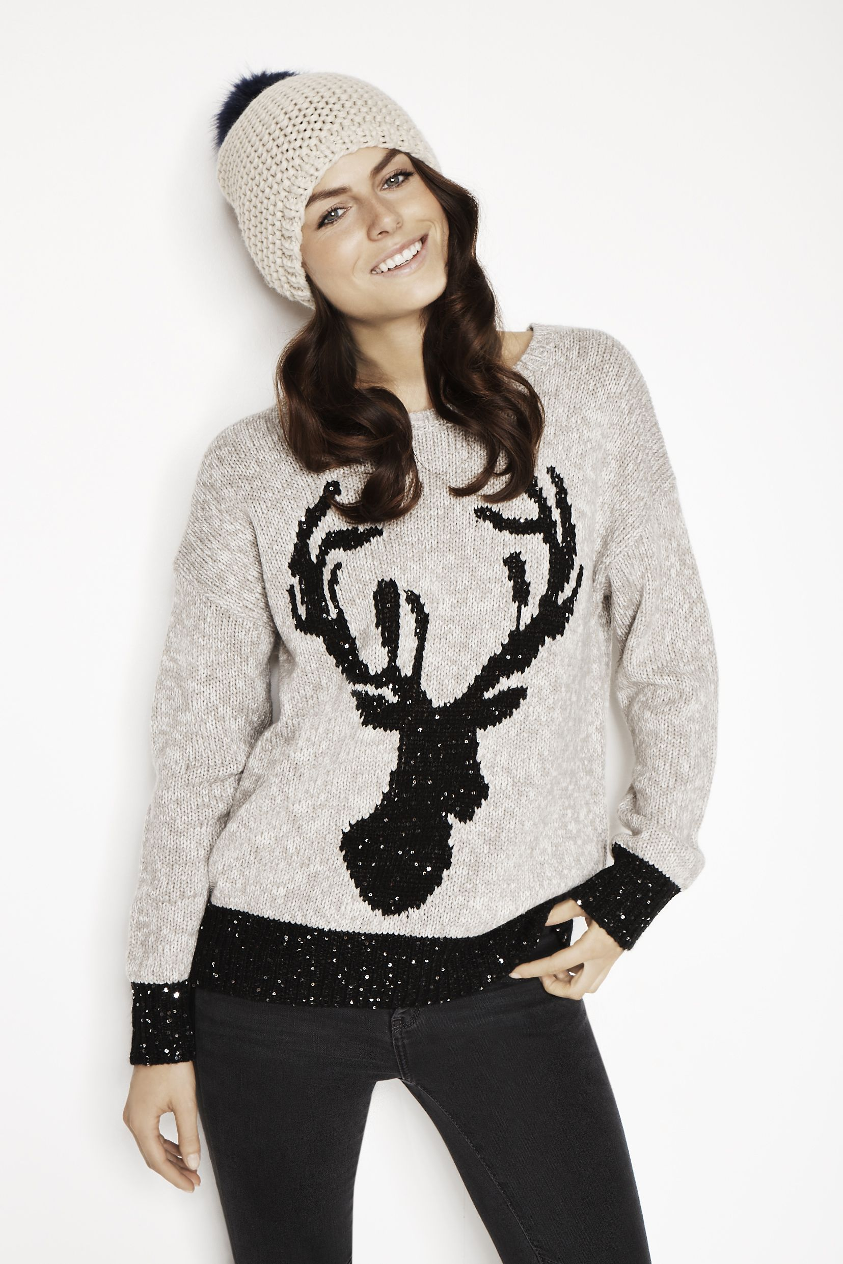 384a4e4dd58 Go for a more classy Christmas jumper | Christmas-ify your look ...