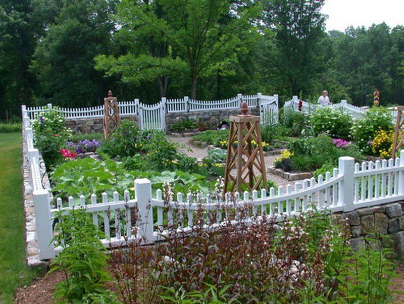 Vegetable Garden Fence Ideas perfect traditional colonial garden patio ideas - best patio