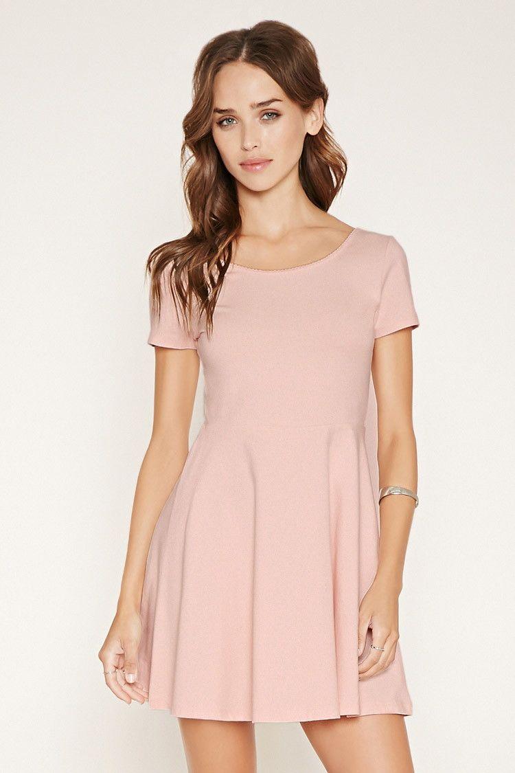 Scalloped Skater Dress | Forever 21 - 2000153306 | Beautiful ...