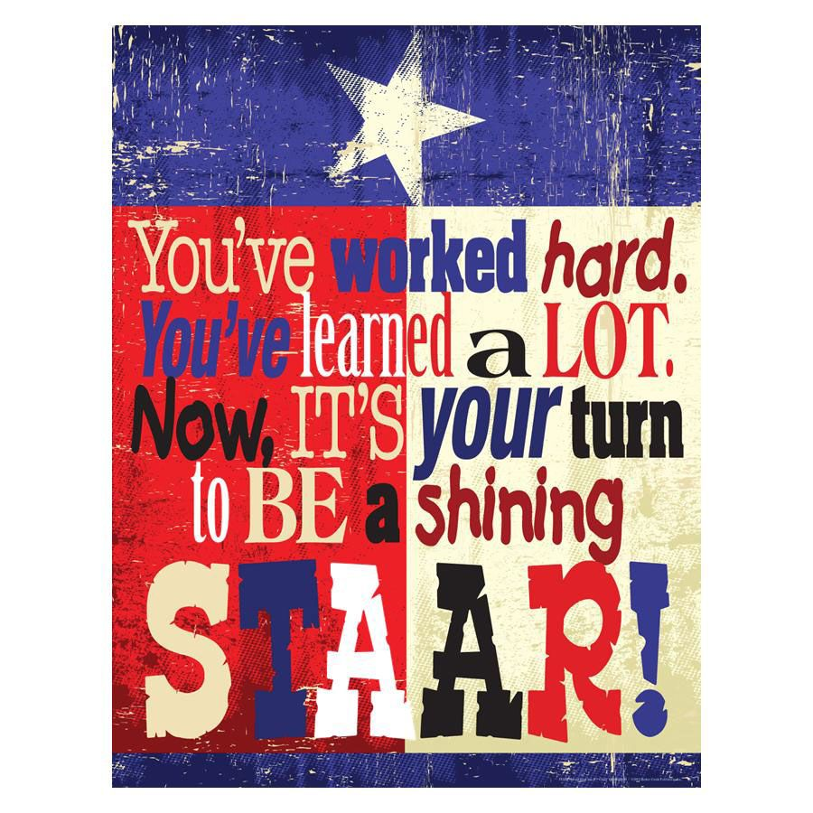 Best Motivational Quotes For Students: STAAR Motivational Poster - Decoratives