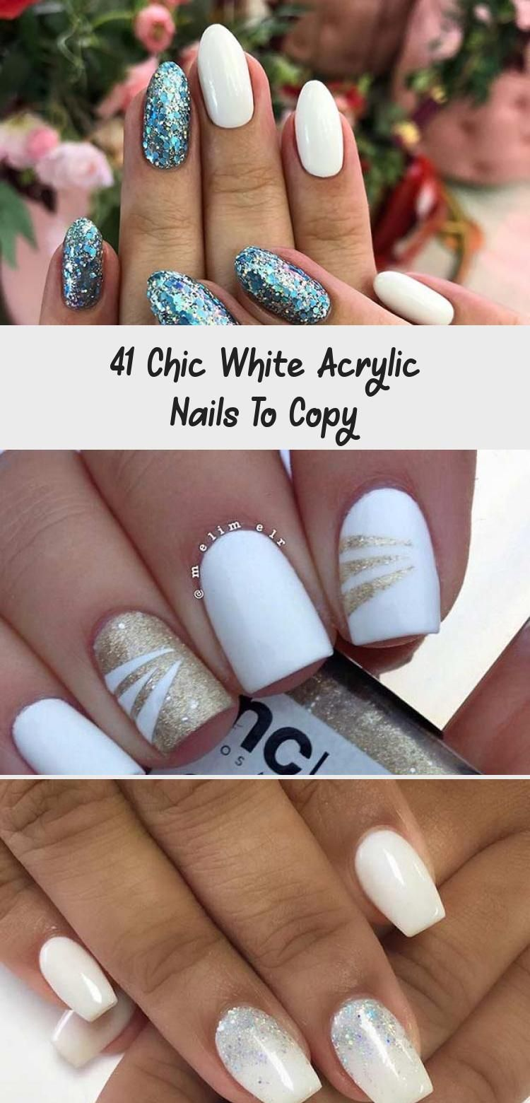 Photo of 41 Chic White Acrylic Nails To Copy – Beauty
