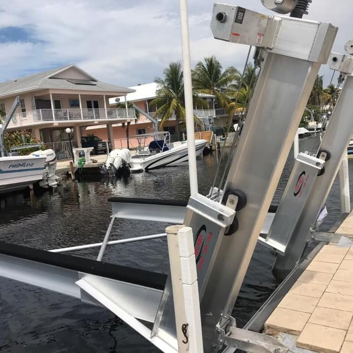 Elevator Boat Lift In Key Largo Installed By Hurricane