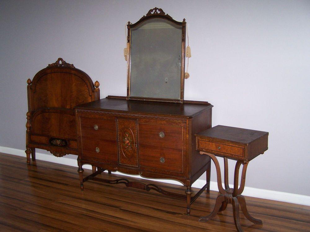 Paine Furniture Antique Bedroom Set Ebay White Sets For Valuable Design