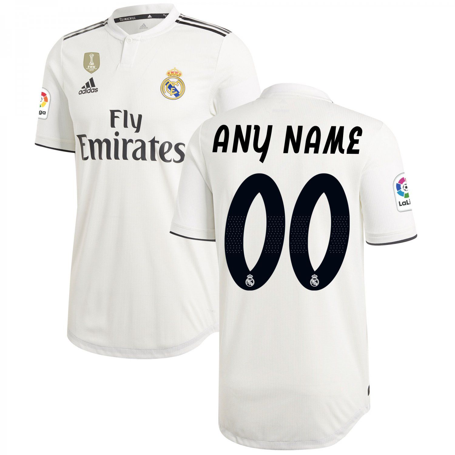 huge discount a9d10 f8548 FAN SHIRT Real Madrid White 2018-2019 Primary Custom Jersey ...