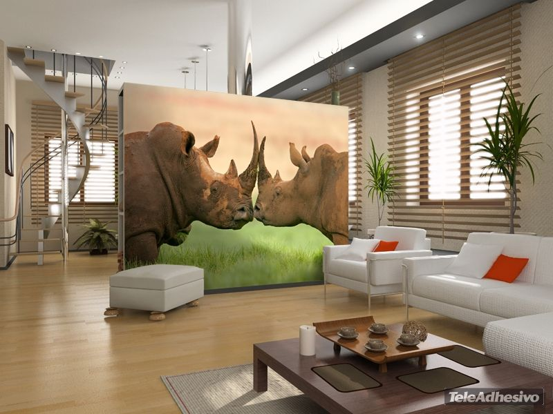 Papier Peint Vinyle Rhinocéros