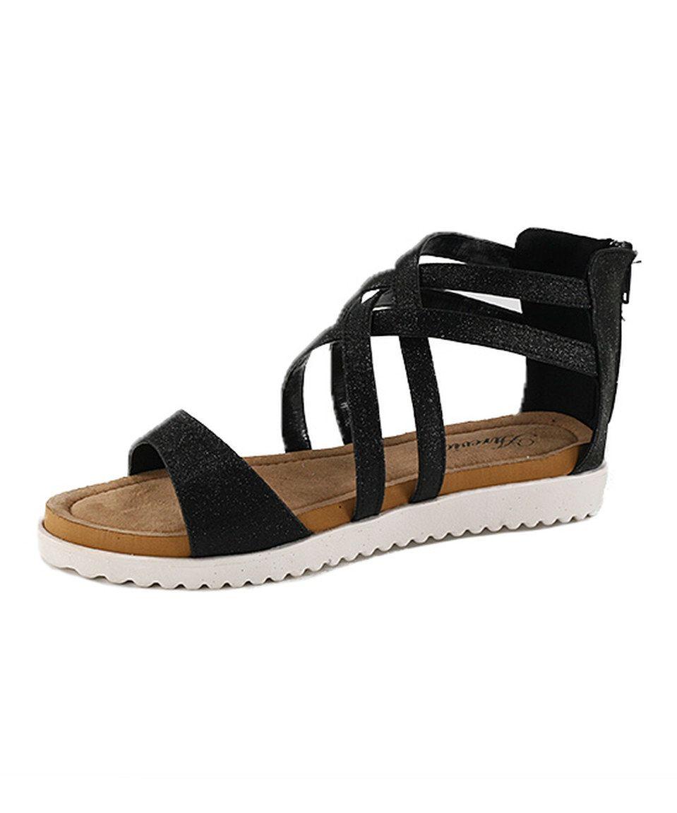 Atrevida Black Perah Gladiator Sandal by Atrevida #zulily #zulilyfinds