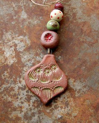 Gaea Ceramic Bead and Art Studio Blog - Ceramic Holiday Joy Ornament and bead set gaea.indiemade.com • gaea.cc