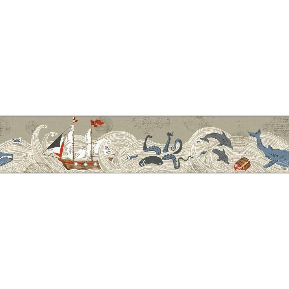 4511749 Dark Blue Brushstrokes Brewster Wallpaper