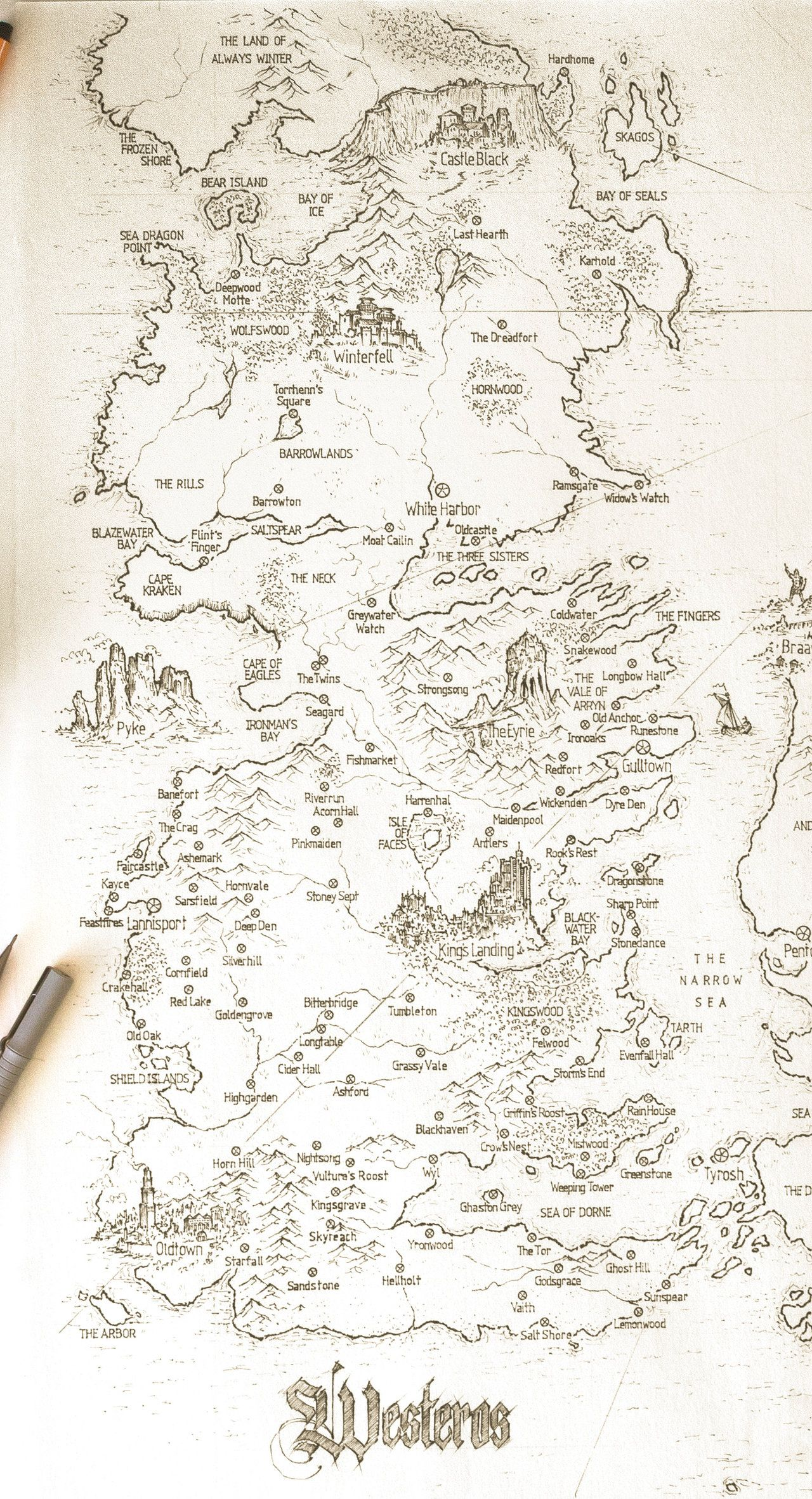 Asoiaf Speculative World Map Westeros Full By Lucas Reiner With