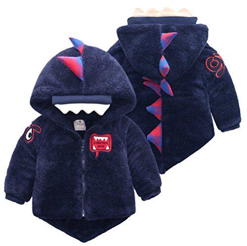 ZIYOYOR Kids Boy Gentleman Winter Warm Cotton Jacket Outerwears Hoodies Coat