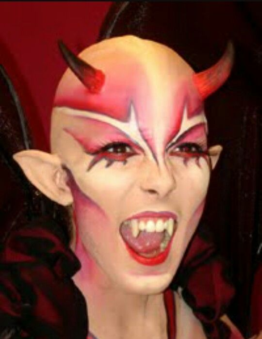 maquillaje para disfraz de diablesa - Maquillaje Diablesa