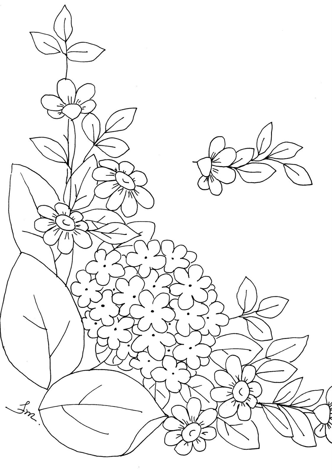 Art\'sanália: risco flores | Riscos Flores | Pinterest | Bordado ...