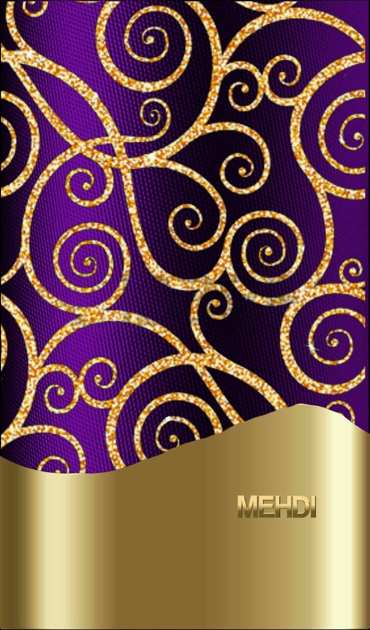 Purple and gold Pretty wallpapers, Purple wallpaper
