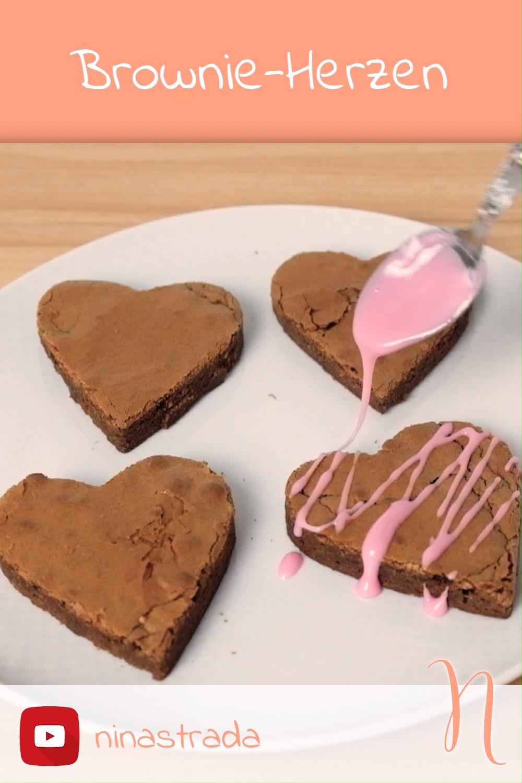 Photo of Backen für Valentinstag: Brownie-Herzen