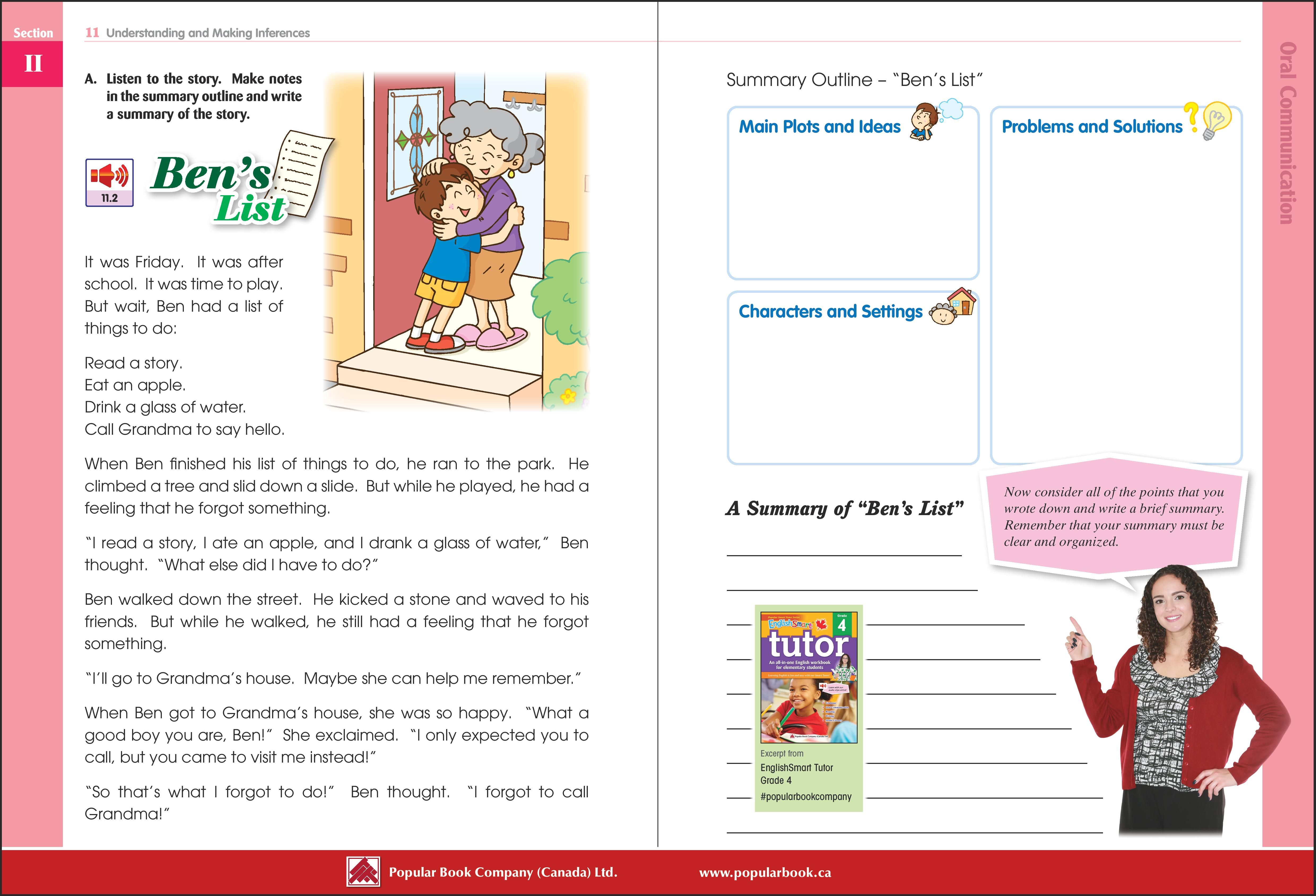 Download the free sample pages from EnglishSmart Tutor Grade