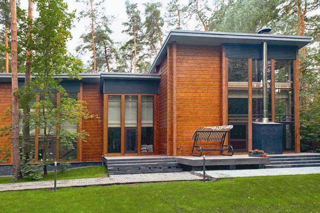 Honka, maison contemporaine en bois massif. | Maisons en bois ...