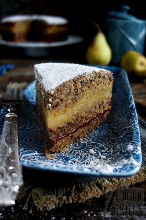 Photo of Nut cake with pear filling and cranberries – tongue circus