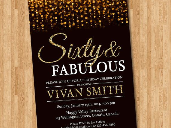 60th Birthday Invitation Women Sixty And Fabulous By Arthomer