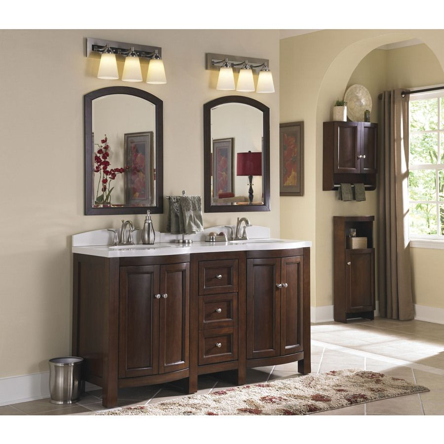 Shop Allen Roth Moravia 60 In X 20 In Sable Undermount Double Sink Bathroom Vanity With Engineered Stone Top At Lowes Com Fo Bathrooms Remodel Bathroom Home