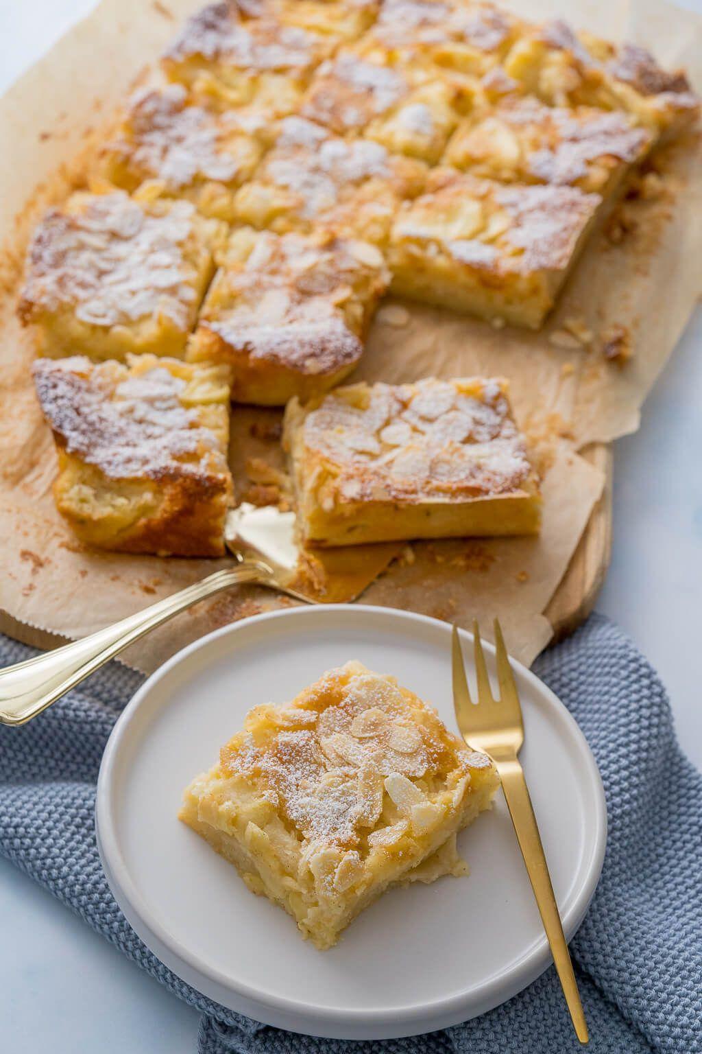 Apfelkuchen vom Blech - schnell, lecker und mega saftig - Einfach Malene