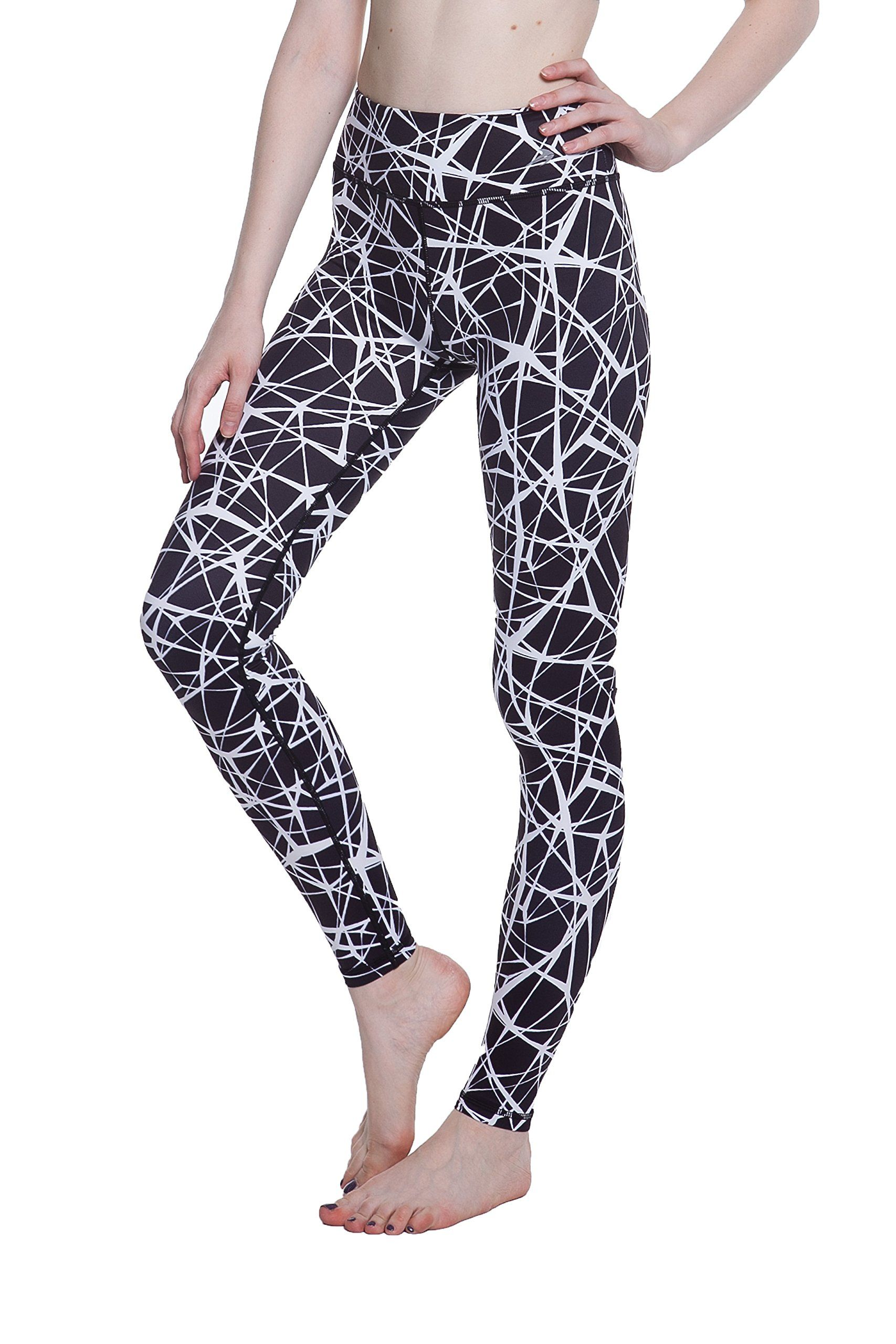 9f71c13a79 Women's Compression Pants (Tangled White - M) Best Full Leggings Tights for  Running,