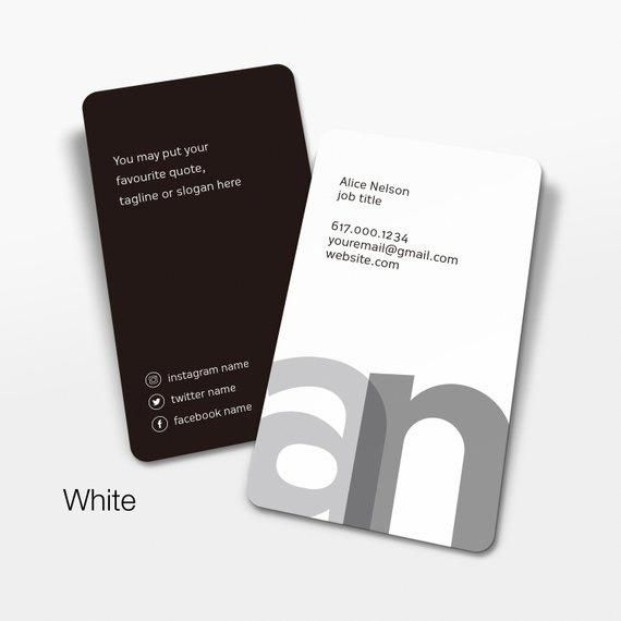 initials business cards design and printed green alphabet