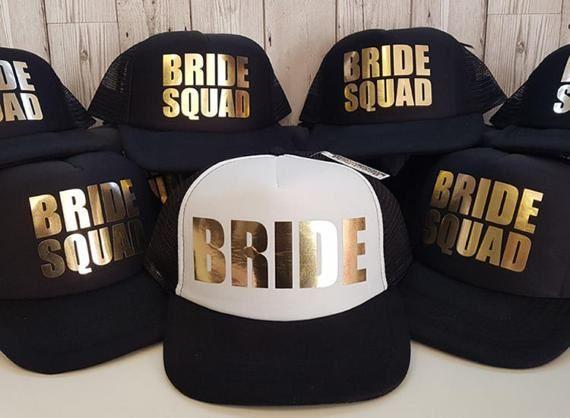 7a321dc10ca Bride Tribe Snapback Hat Hen Night Wedding Trucker Baseball Cap Text Half  Mesh Hüte   Mützen