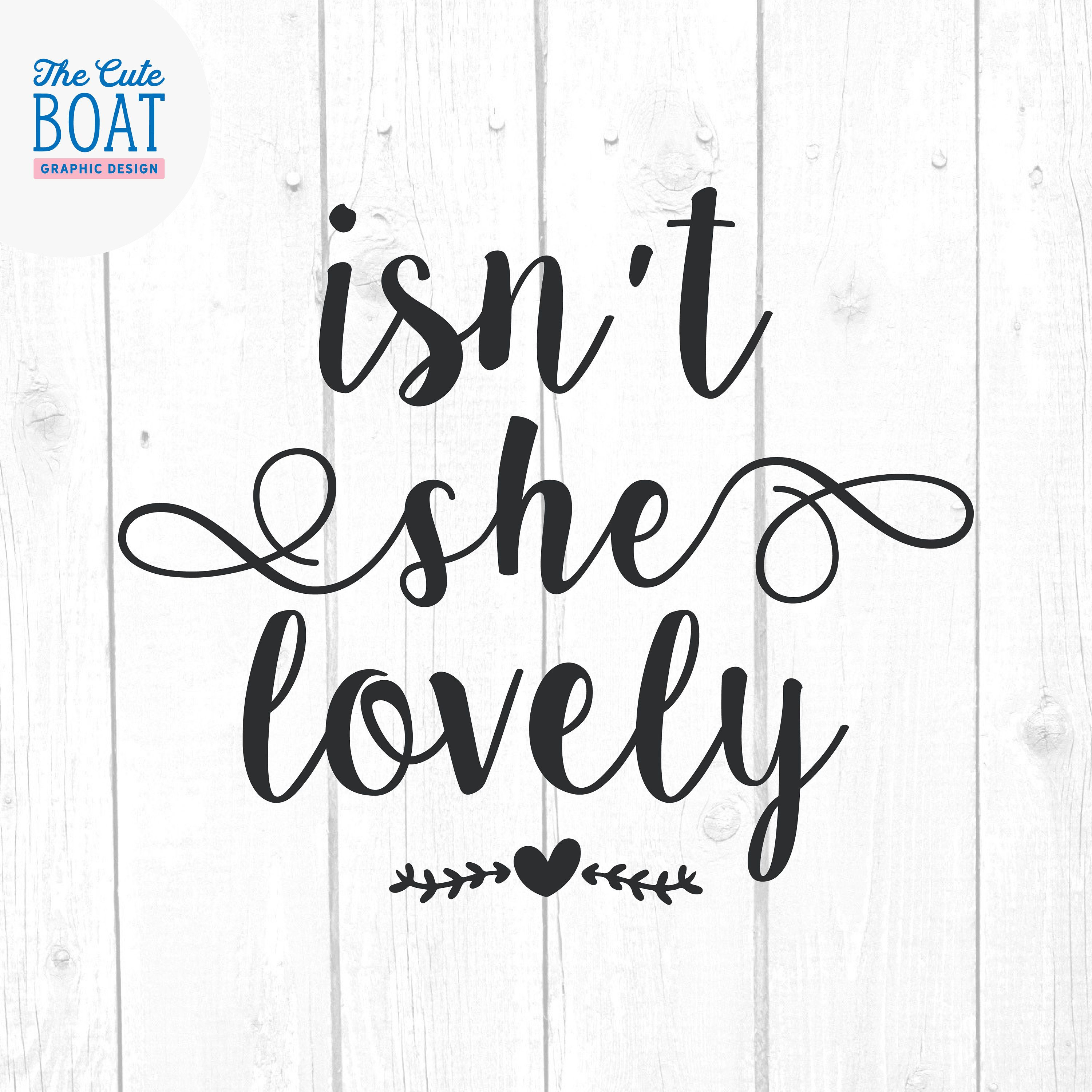 Isn't she lovely Svg, Quote Svg, Quotes and Sayings Svg