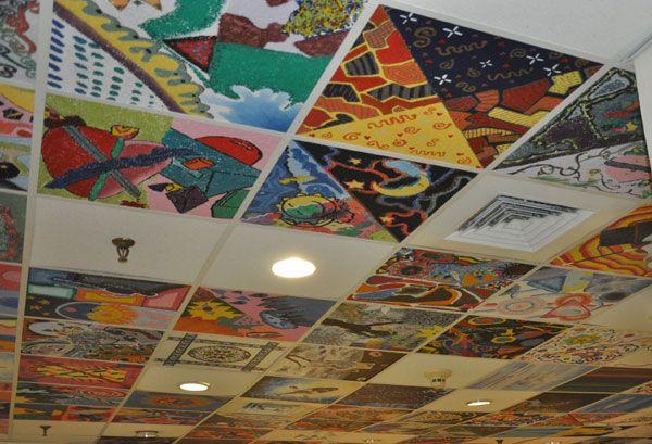 Drop Ceiling Ceiling Tile Art Idea Ceiling Tiles Art
