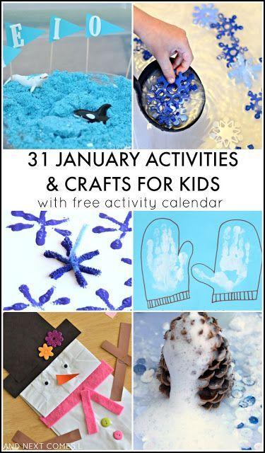 31 January Activities for Kids Free Activity Calendar Winter - activity calendar