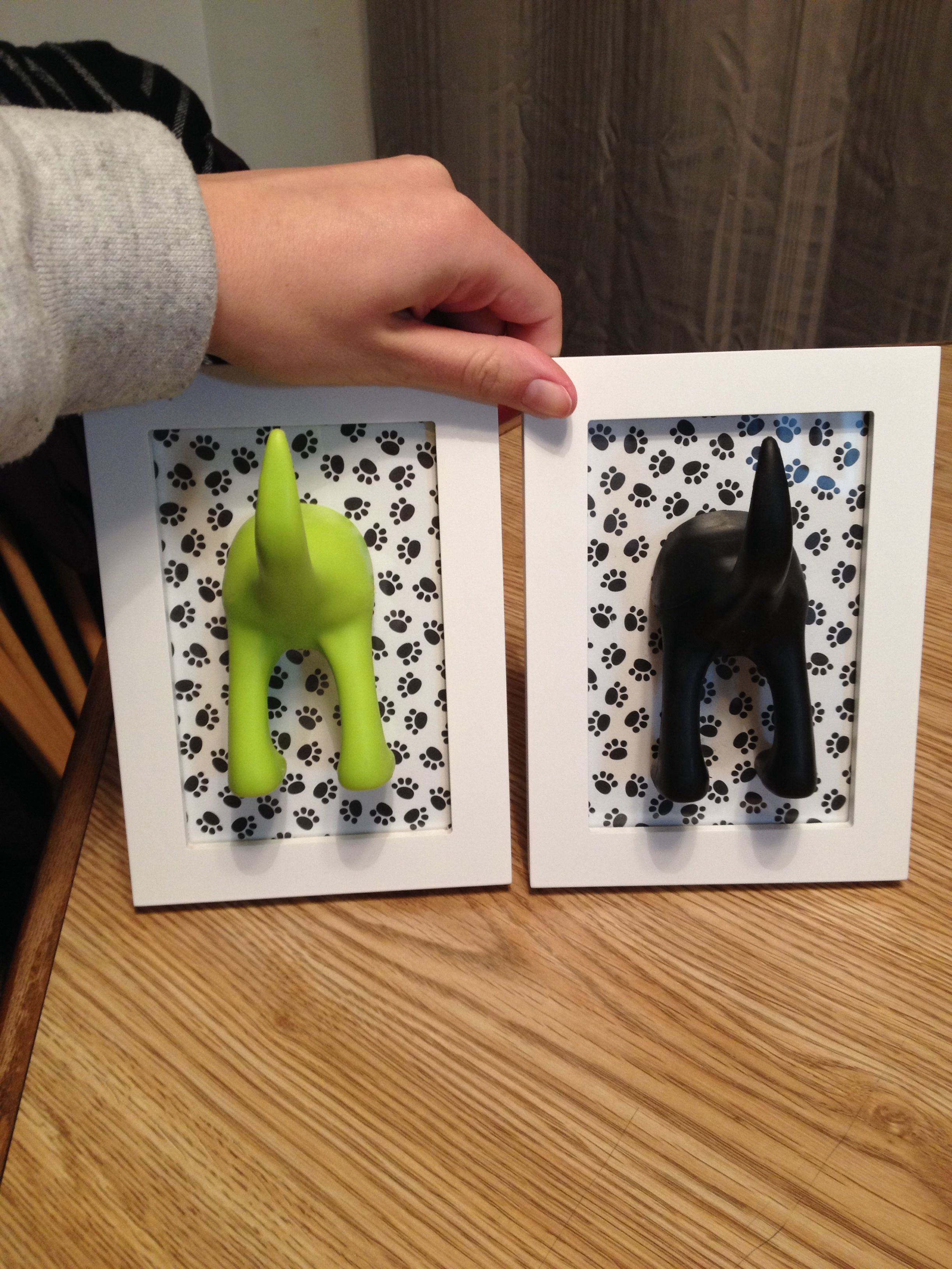 Scrapbook paper dogs - Leash Holders I Made For All Of Dexters Leashes Picture Frame Scrapbook Paper And Ikea Dog Tail Hooks More