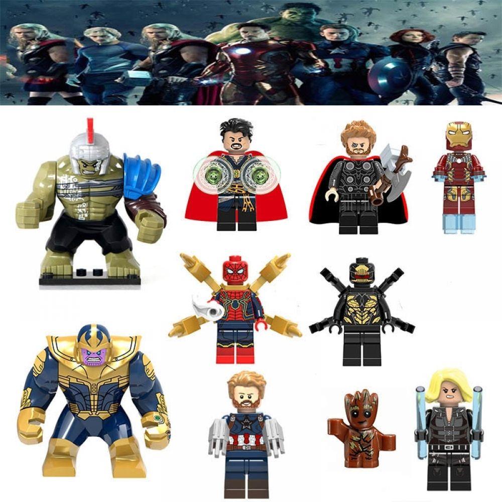 30 pcs Super Heroes Avengers Infinity War 2 Thanos Hulk Series Lego Blocks