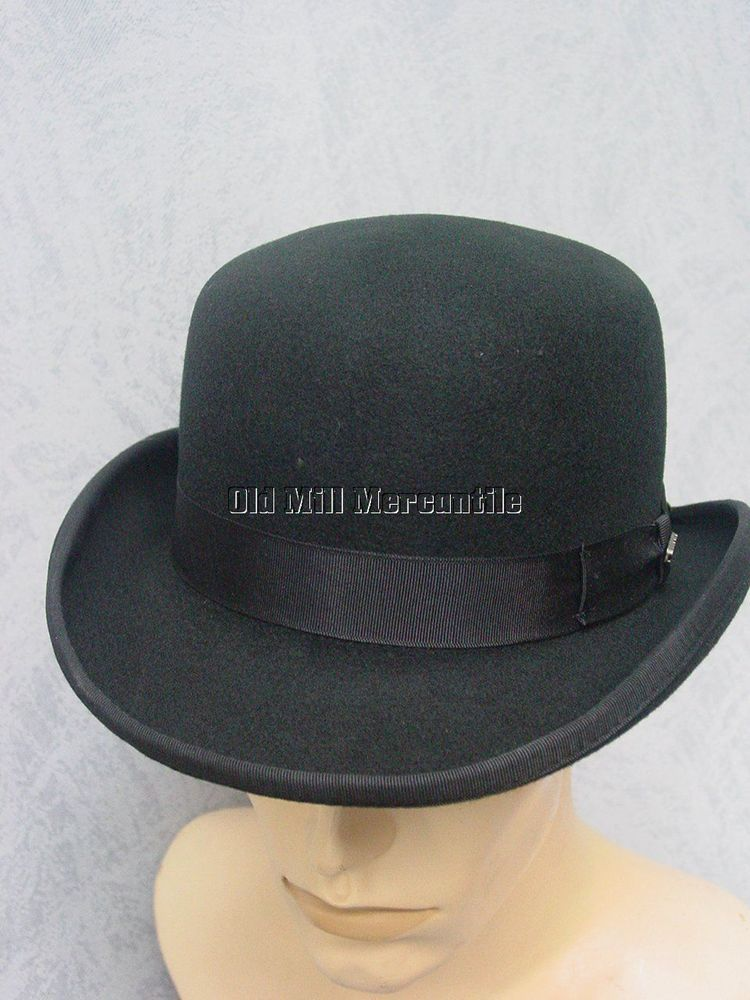 9a3fcf40757 Derby Bowler Old West shallow hat 100% wool felt quality hat S-XL   DorfmanPacificScala  BowlerDerby