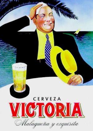 Cerveza Victoria Malaga Spain Anuncios Antiguos Cartel