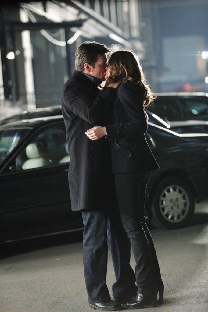 the kiss, Castle and Beckett. This is one of my favorite shows!