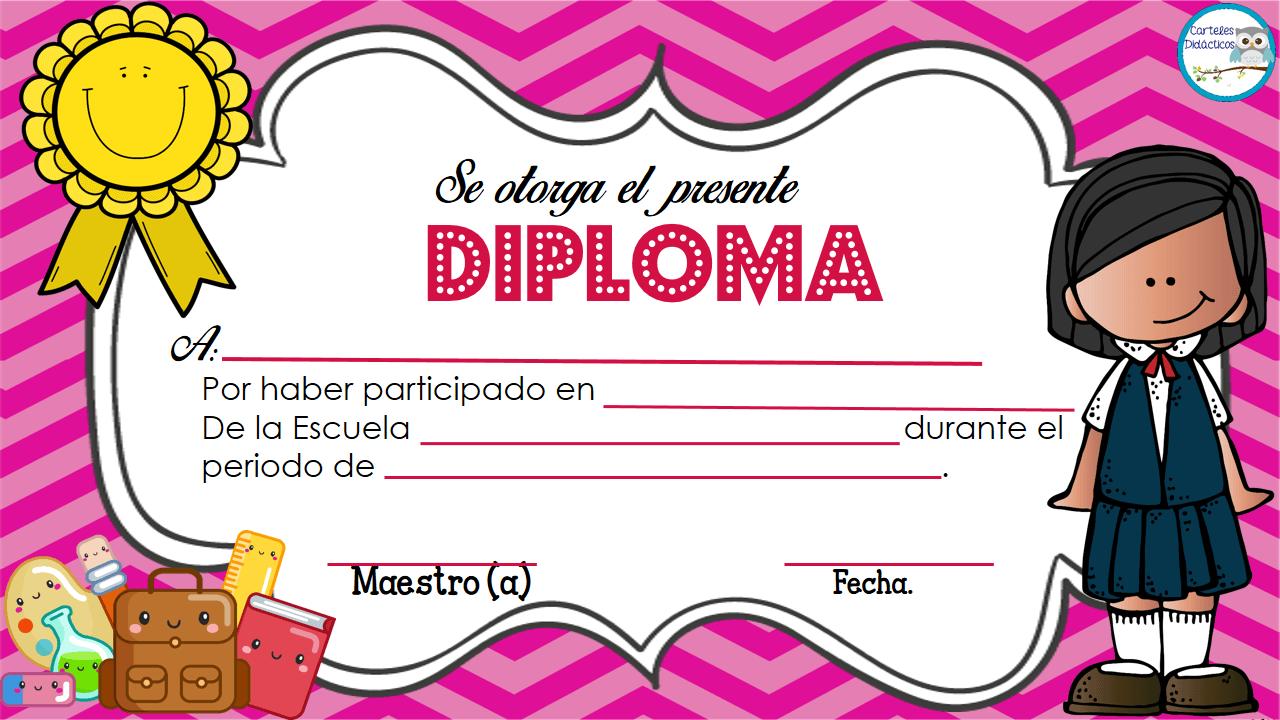 Diplomas para premiar a nuestros alumnos en 2018 | decoracion aula ...