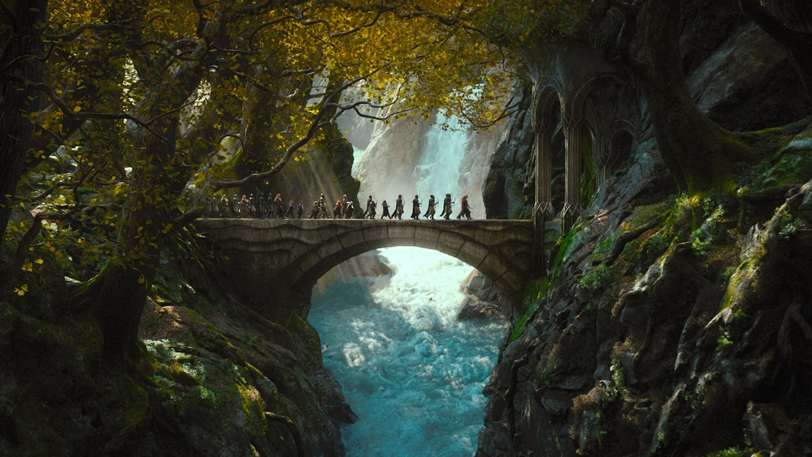 hobbit fantasy forest trees - photo #16