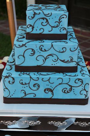 Wedding Cake Tiffany Blue Aqua